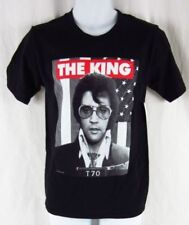 Mens New Elvis Presley The King of Rock and Roll Black T-Shirt Size S M L XL