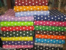 "PORTA CRIB FITTED SHEET Polka Dot Fabric UPick cotton made NEW 3/8"" PACK & PLAY"