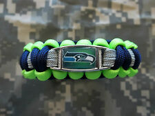 CUSTOM Seattle Seahawks 550 Paracord SURVIVAL Bracelet w Buckle NFL FOOTBALL