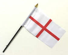 "1, 6 or 12 Pack of St George England Polyester Hand Waving Flags 6"" X 4"""
