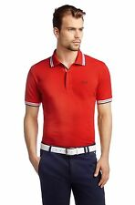 Nwt HUGO BOSS Men's Red Paddy Pique Cotton Polo Golf T-Shirt