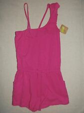 Crazy8 by Gymboree Solid Pink Ruffle Tank Short Romper NWT Summer Spring 7 8 M