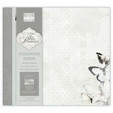 ALBUM DE SCRAPBOOKING RECHARGEABLE FEUILLES  PHOTOS MARIAGE THE PROMISE 30,5cm