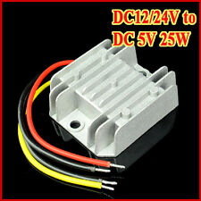 DC-DC Voltage Step-Down Converter Buck Module 12V 24V to 5V 5A 25W Waterproof