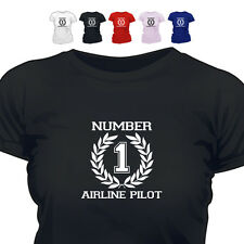 Number 1 Airline Pilot Gift T Shirt 888