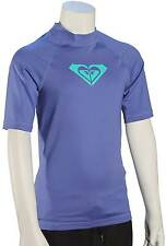 Roxy Girl's Whole Hearted SS Rash Guard - Chambray - New