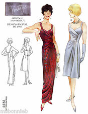 Vogue 2372 Vintage 1960 Mock Wrap Evening & Cocktail Dress Sewing Pattern