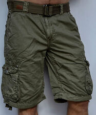 Affliction Black Premium - DOG TAGS - Men's Cargo Shorts - Dark Olive Green