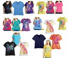 NEW Just My Size by Hanes JMS Women's Plus-Size scoop V neck Tee T-Shirt Top