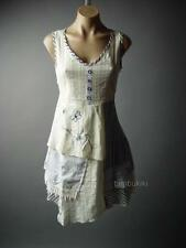 Ivory Victorian Country Prairie Rag Doll Patchwork Chemise Day 84 mv Dress S M L