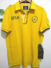 Xios  Mens Short Sleeve Cotton Polo T-Shirts Size 2XL NEW (Yellow, Blue)