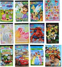 NEW STICKERS BOOK SPIDERMAN CARS DORA THOMAS FROZEN MINION ALPHABET KIDS TOYS