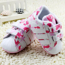 Baby Girl Pink Camo Sport Shoes Soft Sole Walking Sneakers Age 0-18 Months