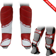 Shin Instep Pad MMA Leg Foot Guards Muay Thai Karate Kick Boxing Guard Protector