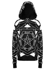 Killstar Clothing Occult Hoodie Black Goth Witchcraft Pullover Hooded Top