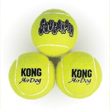 KONG AirDog Squeaks Squeaker Air Neon Yellow Dog Puppy Toy Ball Set Tennis Balls
