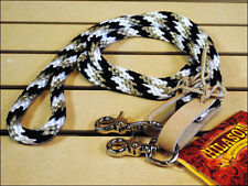 """NEW WESTERN NYLON HORSE ROPING ROPER REINS TRAIL RIDING W/ LEATHER 7FT x 1/2"""""""