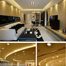 3W 5W 7W Round LED Recessed Ceiling Panel Light Room Down Lamp White/Warm White