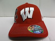 Wisconsin Badgers Cap Zephyr Curved Brim Stretch Fit Fitted Gametime Hat