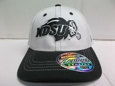 YOUTH North Dakota State Bison White Custom Zephyr Stretch Fit Fitted Hat