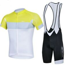 Men's Outdoor Sports Cycling Bike Bicycle Wear Short Sleeve Jersey + Bib Shorts