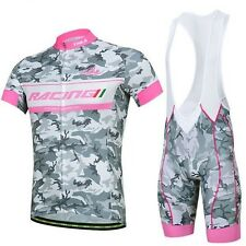 Bike Cycling Clothing Bicycle Wear Short Sleeve Jersey + (Bib) Shorts 3D GEL Pad