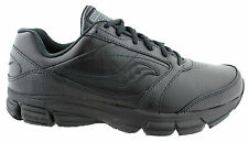 SAUCONY PROGRID ECHELON LE2 MENS CUSHIONED LEATHER WIDE FITTING WALKING SHOES
