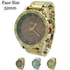 Men's Geneva Jumbo Designer Inspired Rotating Bezel Fashion Wrist Watch 52mm