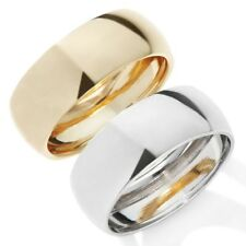 Technibond All Polished Shiny Band Ring 14K Yellow Gold Clad Silver 925