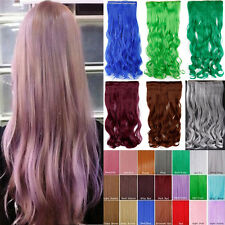 Real Ture Hair Hairpiece 3/4Full Head Clip In Hair Extensions Fancy Dress Hair F