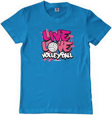 Threadrock Girls Live Love Volleyball Youth T-Shirt Team Player Saying Slogan