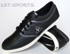 Le Coq Sportif Mens Trainers Shoes Denfert UK 6 to 10 Black Leather UK 6 to 10