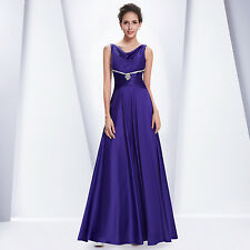 Ever Pretty Ruched Waist Diamante Purple Long Evening Party Dress Gown 09919