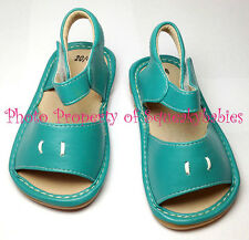 Girls Squeaky Shoes Add-A-Bow Teal  NO BOWS with DEFECTIVE Squeakers SALE!