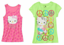 NEW Hello Kitty Girls' Tank Top and Short Sleeve Graphic Tee ( 2 Pack) XL 14-16