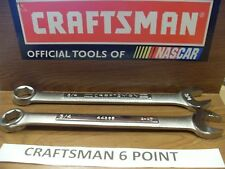 NEW CRAFTSMAN 6 PT POINT SAE OR METRIC COMBINATION WRENCH  CHOOSE SIZE FREE SHIP