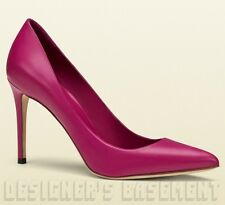 GUCCI bright Bouganville pink leather Pointed Toe Stiletto pump shoes NIB Authen