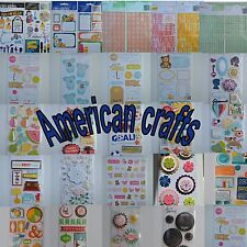 American Crafts Scrapbooking Dimensional Stickers Rub Ons Remarks You Choose