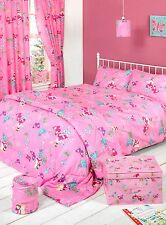 Fairy Land Pink Butterflies Design Girls Duvet Bedding Set Single Double King