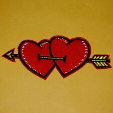Love Heart Arrow Lover Iron on Sew Patch Embroidered Applique Badge Biker Valent