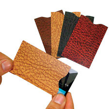 NEW (Set of 4) RFID Credit Card Sleeve- Prevent Identity Theft - 'Leather' Look