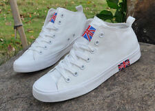 New Fashion Men's British flag mid Help Sports Leisure Breathable Canvas shoes