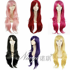 Fashion 6 Colors Long Straight Full Wigs Womens Synthetic Bangs Hair