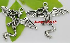 3/15/90pcs Tibet Silveran Winged dragon Jewelry Finding Charms Pendant 38x32mm