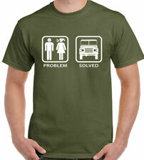 Problem Solved Defender - Mens Funny T-Shirt Land Rover Off Roading 4x4 90 110