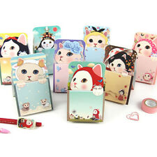 1x Lovely Jetoy Kitty Standing Sticky Notes Memo Pad Book Bookmark Index Sticker