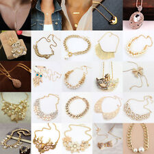 Charm Hot Sale Fashion Women Crystal Golden Chain Charm Pendant Necklace New