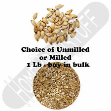 TWO 2 ROW GRAIN Homebrew Beer Brewer's Malt Barley Unmilled or Crushed Per Pound