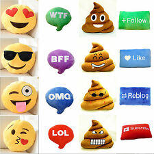 Brand New 5 Type Ultra Soft Plush Emoji Pillow Cusion Fr Sofa/Couch/Bed Decor