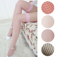 Unique Fashion Sexy Lingerie Woman Ladies Lace Fishnet Thigh High Stockings